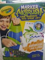 Crayola Marker Airbrush~Turns Markers Into Spray Art~Pump & Markers Included~NIB
