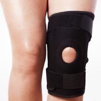 Black Neoprene Adjustable Open Knee Patella Tendon Support Brace Pad Sleeve Belt