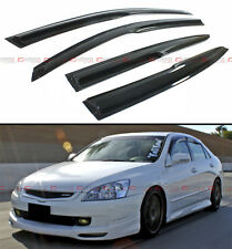 JDM MUGEN STYLE SMOKED WINDOW VISOR RAIN/SUN VENT SHADE FOR 2003-2007 7TH ACCORD