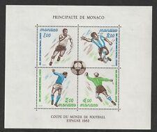27 MAY 1982 MONACO 1982 FOOTBALL WORLD CUP SPAIN MINIATURE SHEET MNH