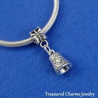 Silver THIMBLE Sewing Seamstress Dangle Bead CHARM fits EUROPEAN Bracelet