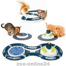 Catit DESIGN SENSES Spielplatz-Katzen-Spielzeug & Pflege-Erlebnis-Center 4er-Set