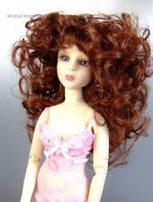 size 7/8 WIG - fits MINI SUPER DOLLFIE BJD  .. Dorian Wig .. Color mix