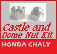 Castle & Dome Nuts Kit -  Honda CF70 Chaly (A2 Stainless)