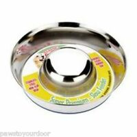 Classic Dog Slow Feeder Bowl Non Slip Stainless Steel Feed Dish Feeding Food