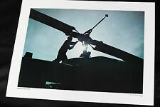 hellicopter mechanic sillohette 17x23 RARE PHOTO PRINT airforce