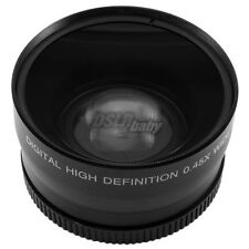 Universal 62mm 0.45x 62 mm Wide Angle + Macro Conversion Lens For DSLR Camera DC