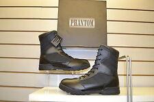 """Phantom 8"""" Black Leather / Nylon Tactical Cadet Boots UK Size 9"""