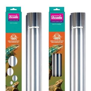 Arcadia Lamp Reflector T5 T8 for Fluorescent Tube with Clips Double Light Output