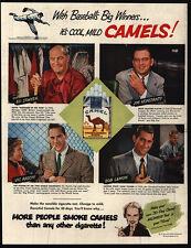 1951 Baseball Player KONSTANTY - SAWYER - RASCHI - LEMON - CAMEL Cigs VINTAGE AD