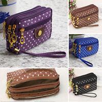 Fashion Women Leather Small Wallet Card Holder Zip Coin Purse Clutch Handbag