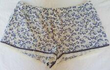 NWOT Victoria's Secret Boy Shorts Soft Cotton Violet Floral, Sz Large
