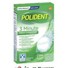3 BOXES X 36tabs Polident 3 Minute Daily Cleanser Tablets (Total: 108 tablets)
