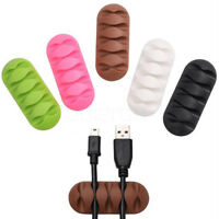 Cable Clip Cable Winder Earphone Cable Organizer Wire Storage Silicon Holder New