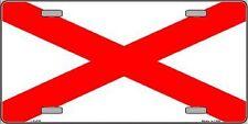 Alabama State Flag Metal Novelty License Plate Tag