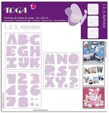 "Alphabet Numbers 3 Templates 12""x12"" 30x30cm Craft Stencil Scrapbooking Layering"