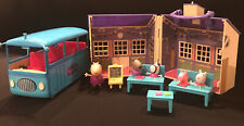 Peppa Pig Deluxe School And School Bus Lot With Figures Friends Playset