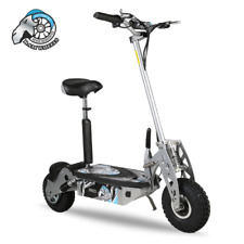 Ram Wheel Pro Electric Scooter – Silver With Detachable Seat