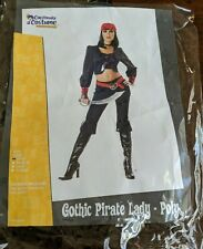 Halloween Theatre Gothic Pirate Lady Costume Black Red NEW  Woman's Small