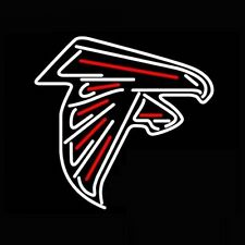 Atlanta Falcons American Football Real Glass Handcrafted Neon Light Sign Q232S
