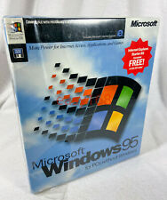 NEW SEALED MICROSOFT WINDOWS 95 OS Software 3.5 Floppy 1995 Retail USA D