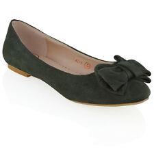 Mujer Bailarinas Lazo Mocasines para elegante Ballet Dolly Zapatos Talla 3-8
