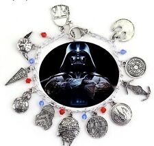 NEW Star Wars Silver Plated Charm Bracelet - Perfect Gift for Christmas