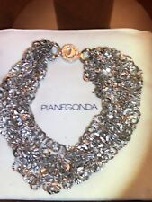 PIANEGONDA HIGH END ITALIAN JEWELERY STERLING SILVER MULTI STRANDS NECKLACE