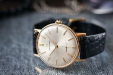 Men's 18K Solid Gold UNIVERSAL GENEVE Sunray Dial Manual Wind Subseconds Watch