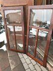 SG 2147 match pair antique oak bookcase doors 23.75 x 49.75