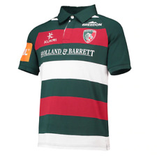 Leicester Tigers Rugby Shirt Jersey Men's Kukri 2018-19 Classic Home Shirt - New