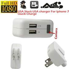 1080P HD Spy Hidden Camera AC Power USB Charger Motion Plug Video For Iphone