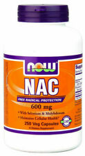 NOW NAC N-Acetyl Cysteine 600 mg Nahrungsergänzungsmittel - 250 Kapseln (NOW00086)