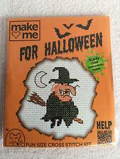 MOUSELOFT cross stitch kit ~ me faire pour halloween ~ sorcière ~ nouveau