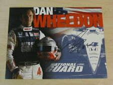 Indianapolis 500 winner DAN WHELDON Signed Indy Team Hero Card National Guard