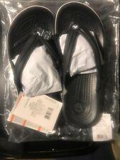 CROCS Crocband FLIP Beach Shoes  Crocband Pool /White Black