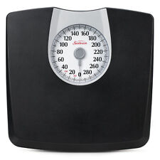 Bathroom Weight Scale Body Health Fitness Fat Black Mechanical 330 Lbs.