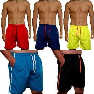 Badeshorts Badehose Shorts Schwimmhose Herren Männer Bermuda Schwimmshort Neon 6