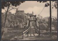 44211) Echt Foto AK Rochsburg a. Mulde Hängebrücke mit Blick zum Schloß 1970