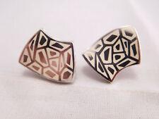 Menegatti Sterling Silver Enamel Earrings High Quality Italian Designer Flli