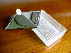 Tiny butter dish  Wartime vintage WW2  Austerity   Art deco