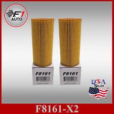 F8161 (X2) OIL FILTERS for 12-16 1.8L AUDI A4 ,  2018 2.0L A4 , 2017 2.0L GOLF R