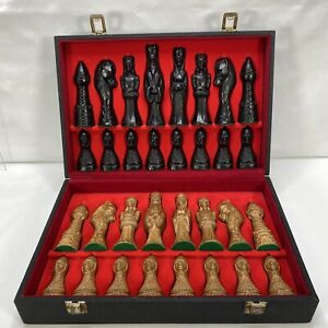 Chess Pieces Period Large French Wooden Handmade c1929 Made in Burgundy France