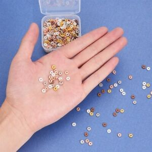 50 Spacer Beads Mix Rose Gold Silver Findings Floral Assorted Lot 5mm