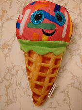 WAFFLE CONE ICE CREAM STRAWBERRY W/ COLORFUL SPRINKLES 8 INCHES SMILEY FACE DIET