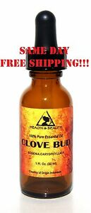 CLOVE BUD ESSENTIAL OIL ORGANIC AROMATHERAPY PURE NATURAL DROPPER 1 OZ, 30 ml