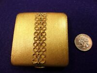 """#13 of 22, EXCELLENT VTG NOS? GOLD TONED """"AVON"""" COMPACT, NEVER USED, FILIGREE"""