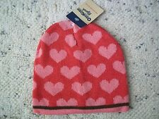 OSHKOSH GIRLS  WINTER HAT 4-6X PINK HEARTS NWT