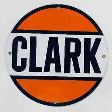 Clark Gasoline Porcelain Advertising Sign