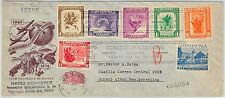 COLOMBIA -  POSTAL HISTORY - FDC COVER 1950 :  FLOWERS orchids UPU - NICE!!